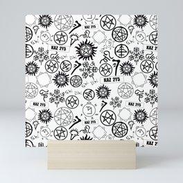Supernatural Symbols Mini Art Print