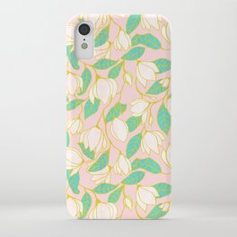 Sweet magnolia floral pattern iPhone Case
