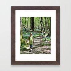 In the bluebell woods Framed Art Print