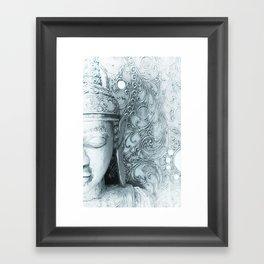 Fade to White Budda Framed Art Print