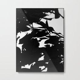 Dark Fall Leaves Metal Print