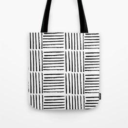Modern black white watercolor paint brushstrokes Tote Bag