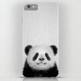 Panda Bear - Black & White iPhone Case