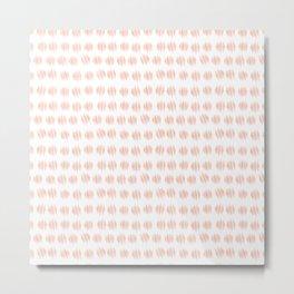 ICAN make dots pink and white Metal Print