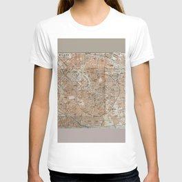 Milan, Italy / Milano, Italia antique map T-shirt