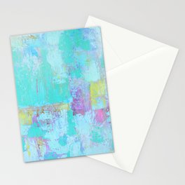 Turquoise, Blue Abstract Work Stationery Cards