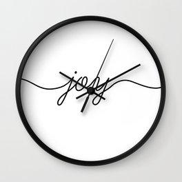 Peace love joy (3 of 3) Wall Clock