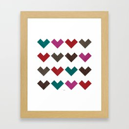 leather geometric love on white Framed Art Print