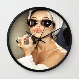 Audrey Hepburn Style Art  Audrey Style Art  Audrey Style Poster  Wall Art  Poster Print  Audrey Hepburn  Audrey Art  Lipstick Art Wall Clock