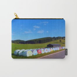 Hayballs along the road | landscape photography Carry-All Pouch