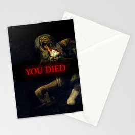 You Died Dark Soul Stationery Cards