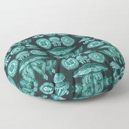 Ernst Haeckel - Scientific Illustration - Discomedusae (Jellyfish) Floor Pillow