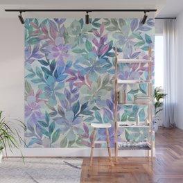watercolor Botanical garden Wall Mural