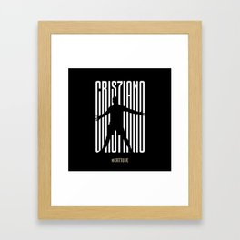 CR7Juve Flat Design Framed Art Print