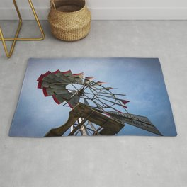 Looking Up at Challenge Company Windmill in Batavia Illinois Rug