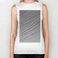 gray pattern Biker Tanks featuring Relief - Gray by Rose Etiennette