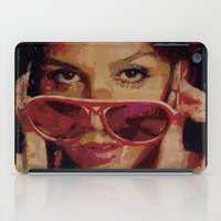 bianca green iPad Cases featuring Bianca by Yuri Torres Bertazolli