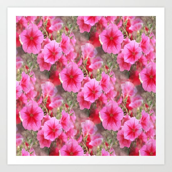 Love of Petunias.... Art Print