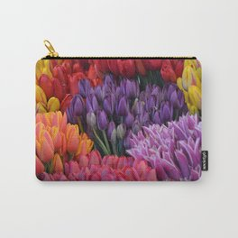 Colorful bunches of tulips Carry-All Pouch