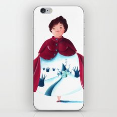 winter lady iPhone Skin