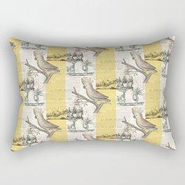 Vintage Cockatoo Toile Rectangular Pillow