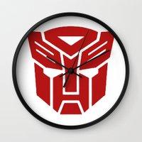transformers Wall Clocks featuring Transformers by tshirtsz