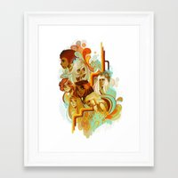 disco Framed Art Prints featuring Disco by loish