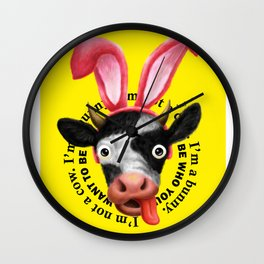 Easter cow Wall Clock