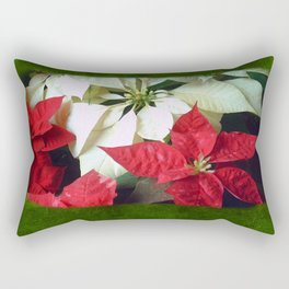 Mixed Color Poinsettias 2 Blank P1F0 Rectangular Pillow
