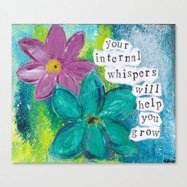 INTERNAL WHISPERS Canvas Print