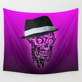 Elegant Skull with hat,hot pink Wall Tapestry