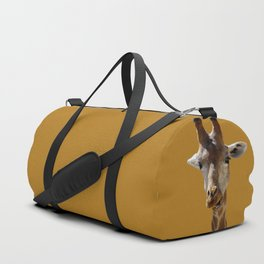 Giraffe Portrait Close up 2 Duffle Bag