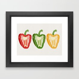 Mixed Peppers Framed Art Print