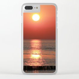 Sailing in Sunset Clear iPhone Case