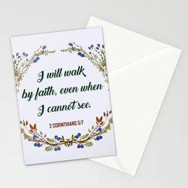 2 CORINTHIANS 5:7 Stationery Cards