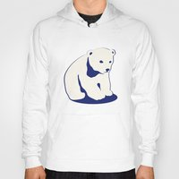 polar bear Hoodies featuring Polar bear by Michelle Behar