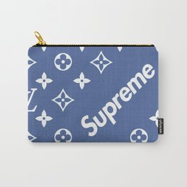 Supreme LV Blue Carry-All Pouch