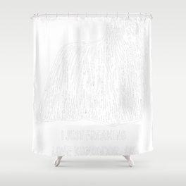 Komondor-tshirt,-just-freaking-love-my-Komondor. Shower Curtain