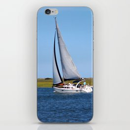 Sailing At Masonboro Island iPhone Skin