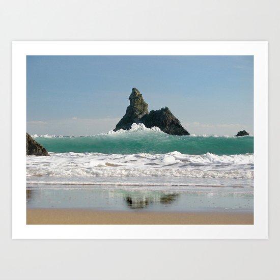 BroadHaven South Beach.Pembrokeshire.Wales. Art Print