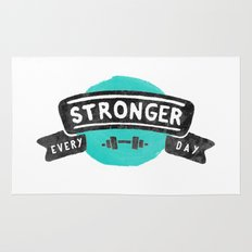 Stronger Every Day (dumbbell) Rug