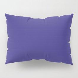 Solid Dark Blue Whale Color Pillow Sham