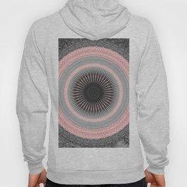 Metal Silver and Pink Mandala Abstract Hoody