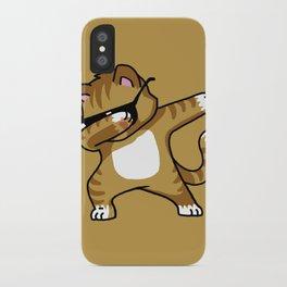 Dabbing Cat Caramel iPhone Case