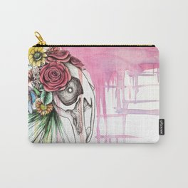 Skull and Flowers n.1 Carry-All Pouch