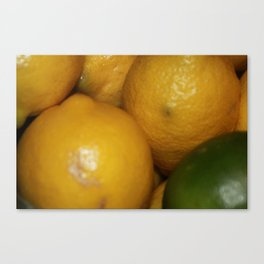 Lemons & a Lime Canvas Print