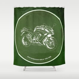 2016 Kawasaki Ninja 1000 ABS Quote - For some there's therapy Shower Curtain