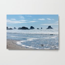 Oregon Coast Beach Photography Print Metal Print