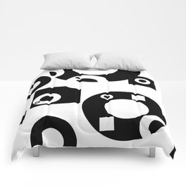 Black& White Rings Rectangle Comforters