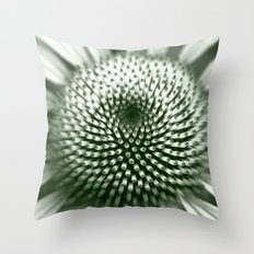 Black and White Flower Core Throw Pillow